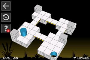 Screenshot of Bobbin 3D: the logical maze