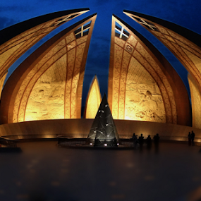 Pakistan Monument by Fahad Iqbal - Buildings & Architecture Architectural Detail ( pakistan, pakistan monument, islamabad, hdr, night, city )