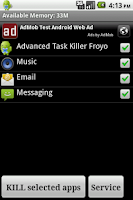 Screenshot of Advanced Task Killer Froyo