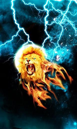 Fire Light Lion Live Wallpaper