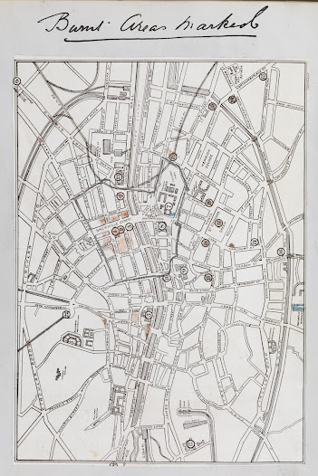 Map of Areas of Dublin Destroyed