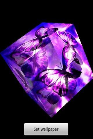 3D 美しい蝶