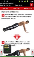 Screenshot of Men's Health Workouts Lite