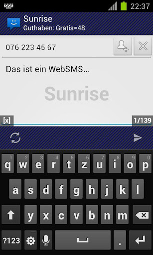 WebSMS: Sunrise Connector
