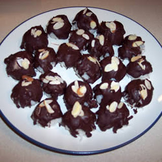 Almond Coconut Chocolate Cookie Balls