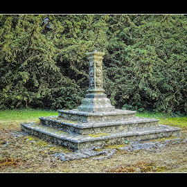 Ellon Castle Garden by Ian Jukes - City,  Street & Park  Historic Districts ( ellon, aberdeenshire, sun dial, castle, garden )