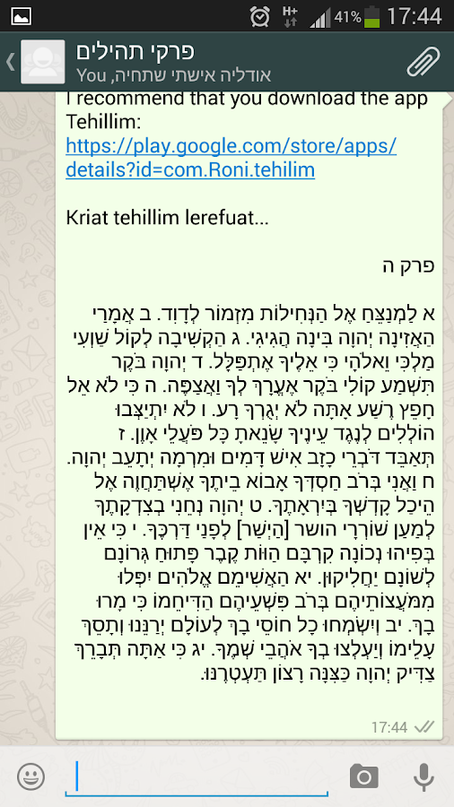 Tehillim Screenshot 6
