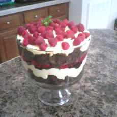 Raspberry Chocolate Cream Trifle