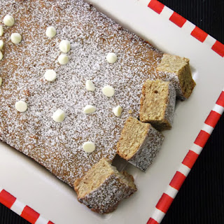 White Chocolate and Gingerbread Slice