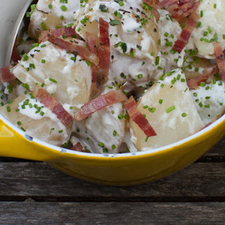 Creamy New Potatoes with Bacon and Chives