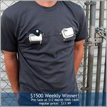 Ctrl + EscなTシャツ