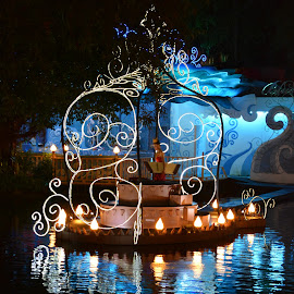 Glisten on by Adhiraj Ghosh - Novices Only Objects & Still Life ( lights, water, lady, night, boat )