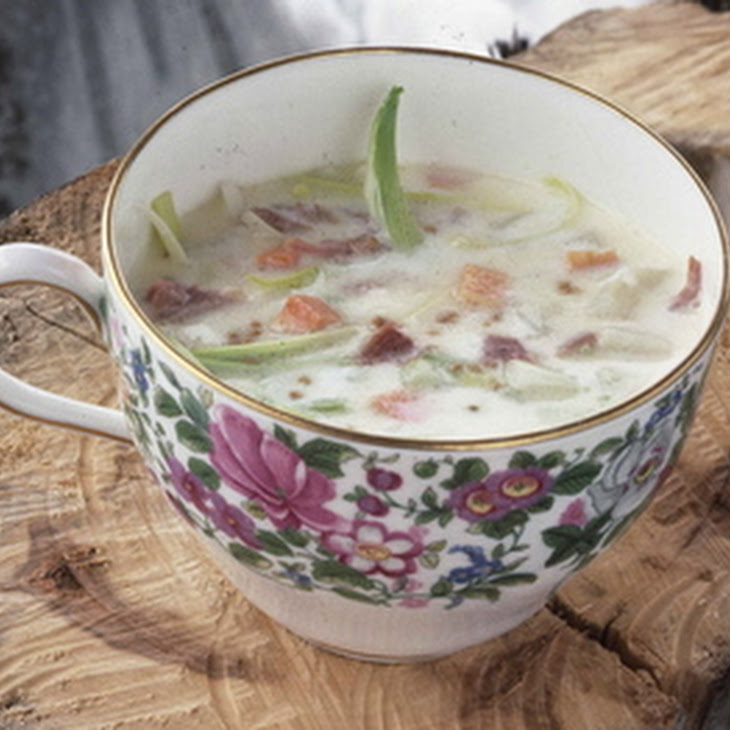 potato leek and ham soup recipe yummly creamy potato leek and ham soup ...