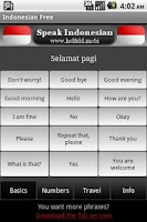 Screenshot of Speak Indonesian Free