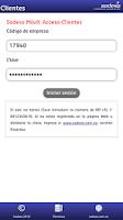 Screenshot of Sodexo Clientes