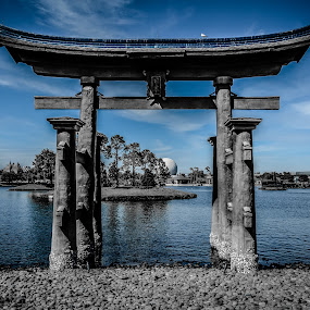 Welcome to Japan by David Whitehead - Buildings & Architecture Other Exteriors ( magic, japan, blue, castle, epcot, waltdisneyworld, disney, universe )