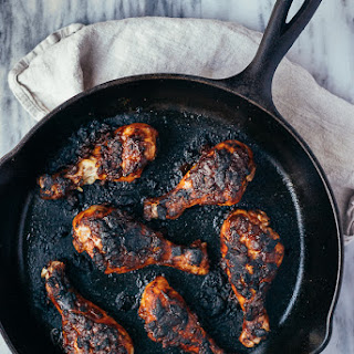 Roasted Chicken Legs With Caribbean-style Barbecue Sauce + Date Night In