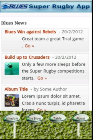 The Blues Super Rugby