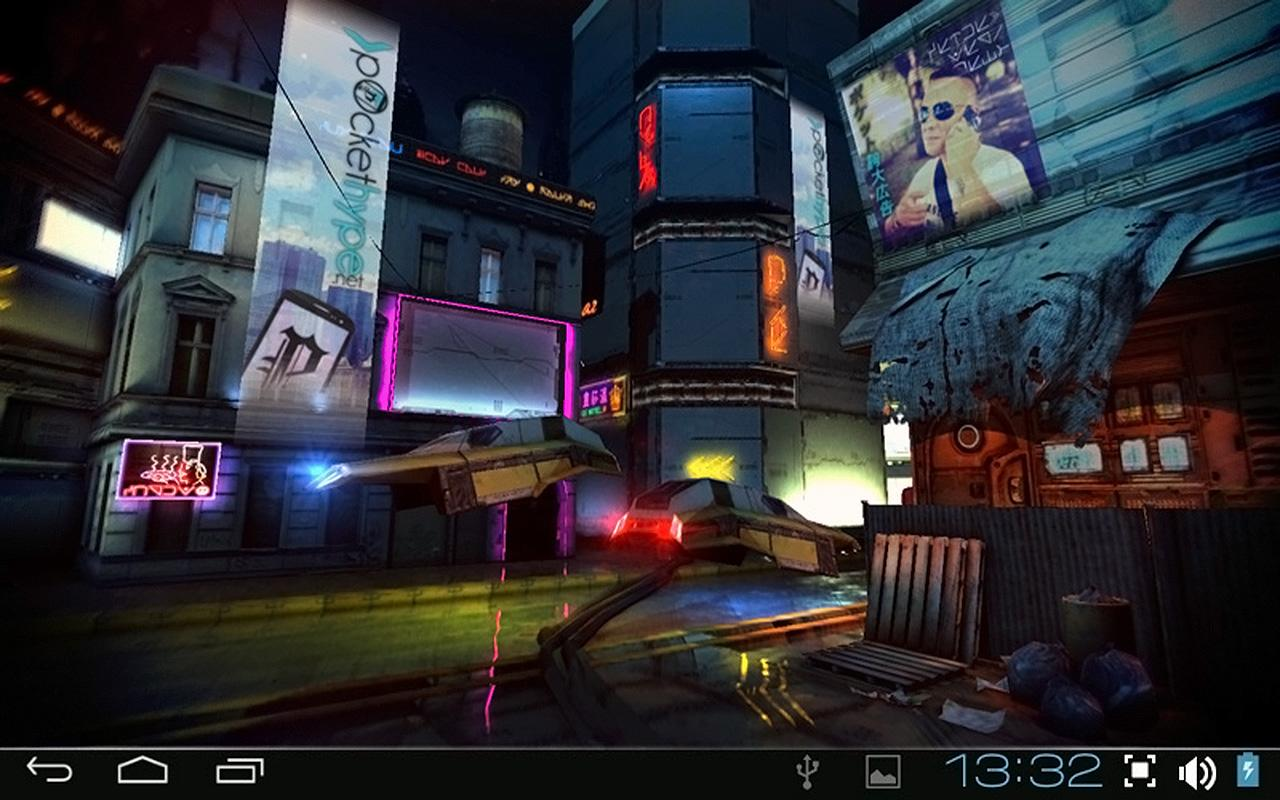 Futuristic City D Free Lwp Android Apps On Google Play