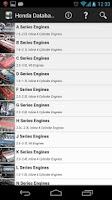 Screenshot of Tech Database for Hondas