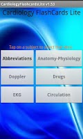Screenshot of Cardiology Flashcards Lite