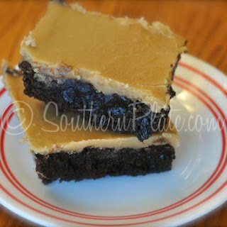 Peanut Butter Fudge Iced Brownies