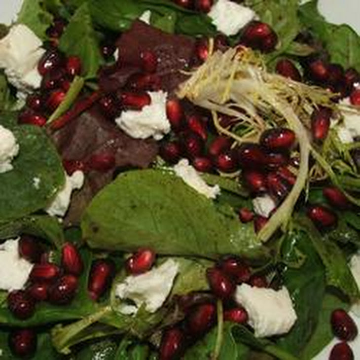Pomegranate Feta Salad with Lemon Dijon Vinaigrette Recipe | Yummly