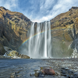 Skogafoss by Joe Kirby - Landscapes Travel ( iceland, waterfalls, waterfalls of iceland, waterfall, icelandic waterfalls, skogafoss, landscape, icelands waterfalls, rainbow )