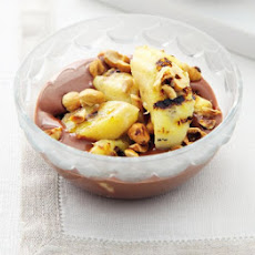 Griddled Bananas With Nutty Chocolate Custard