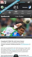 Screenshot of BUNDESLIGA bei BILD