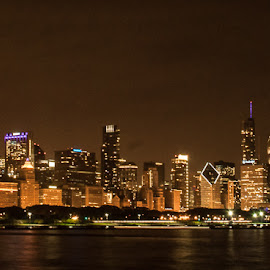 The Windy City by Michelle Cox - City,  Street & Park  Skylines (  )
