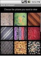 Screenshot of Batik Wallpaper
