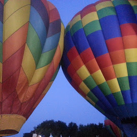 Colorful Hot Air Balloons. by Lauri Miller - Transportation Other