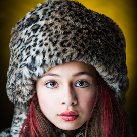 Toasty Isa by David Hancock - People Fashion ( fasion, leopard skin, girl, red hair, warmth )