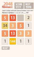 Screenshot of 2048 Fibonacci