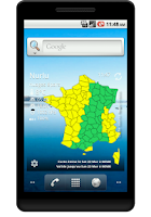 Screenshot of Vigilance Météo France