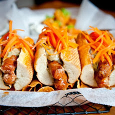 Merguez Dogs With Pickled Carrots And Cumin Aioli Recipe