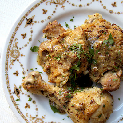 Mustard and White Wine Braised Chicken