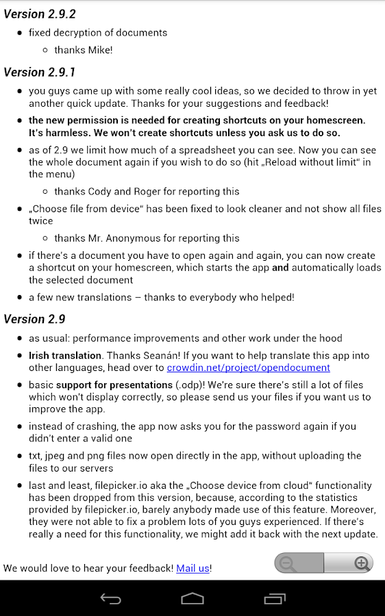 OpenDocument Reader Screenshot 12