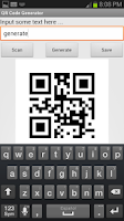 Screenshot of QR Code Scan and Generator
