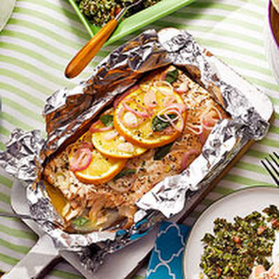 Grilled Salmon with Mint Tzatziki