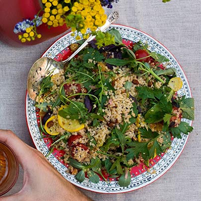 Bulgur + Torn Herbs = A New Tabbouleh Salad