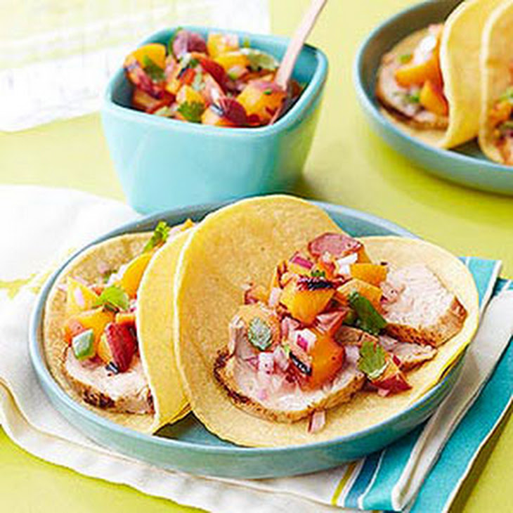 Pork Tacos with Summer Peach Salsa Recipe | Yummly