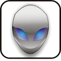 Alien Head doo-dad blue icon