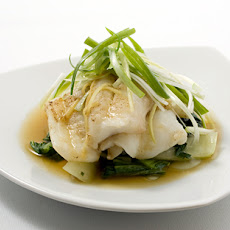 Steamed Scallion Ginger Fish Fillets with Bok Choy