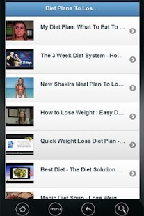 Diet plans to lose weight VDO - screenshot