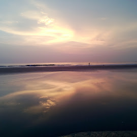 photo taken from goa  by Thahir Shamsudheen - City,  Street & Park  Skylines ( water, sky, sunset, romantic, sea, world )