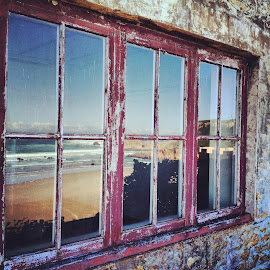 whimsical window by Elaine Alberts - Instagram & Mobile iPhone ( #castle, #window, #beach )