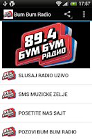 Screenshot of Bum Bum Radio