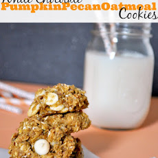 White Chocolate Pumpkin Pecan Oatmeal Cookies